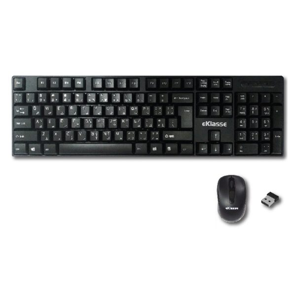 buy eklasse ekwlkm06xm wireless keyboard mouse combo price specifications features. Black Bedroom Furniture Sets. Home Design Ideas