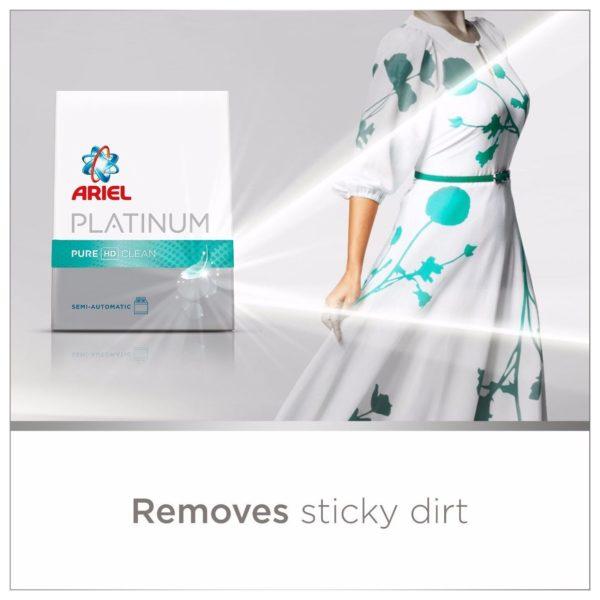 Ariel 73646 Platinum Laundry Powder Detergent Fragrant Hd Clean 2.5 kg
