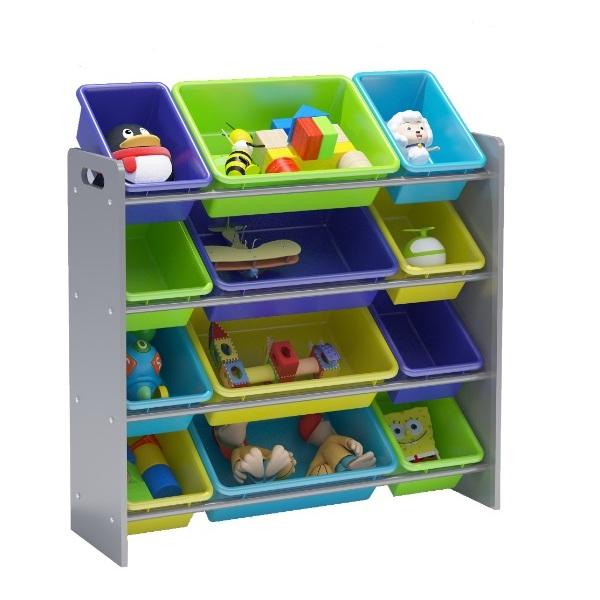 Class Kids Toy Storage Organizer 12 Plastic Bins