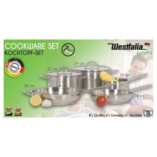 Westfalia Stainless Steel Cookware Set 7pcs WFIT021586