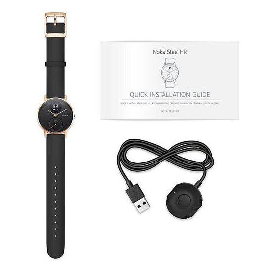 Nokia HWA03 Steel HR Watch 36mm Black