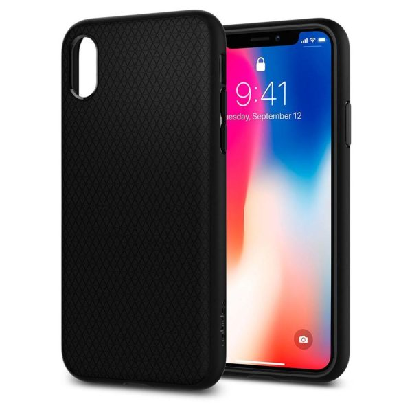 size 40 a6b01 4a251 Spigen Liquid Air Matte Black Case For iPhone Xs