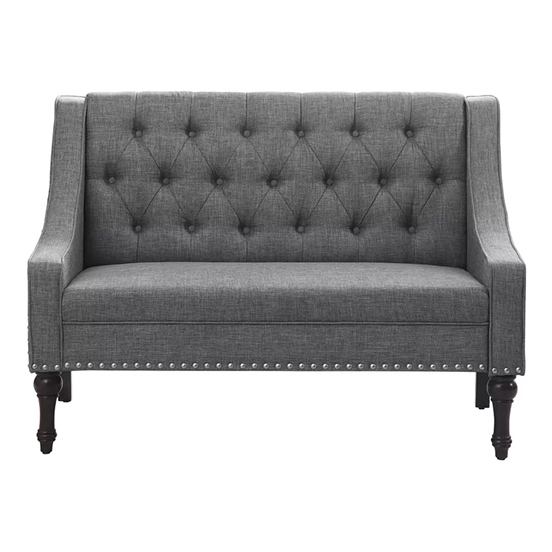 Christiansburg Tufted Loveseat in Grey Color