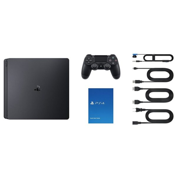 Sony PS4 Slim Gaming Console 1TB Black + Call Of Duty Black Ops 4 Game + PlayStation 4 Gold Headset