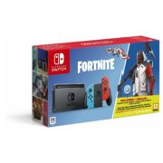 Nintendo Switch Gaming Console 32GB Neon Joy Con With Fortnite Game Bundle