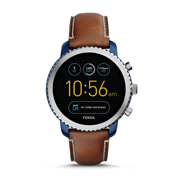 Fossil FTW4004 Gen 3 Smartwatch - Q Explorist Luggage Leather