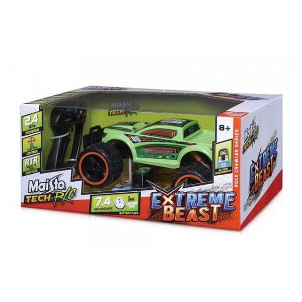 Maisto Tech 81128BLU RC Extreme Beast. 2.4 GHz Green 1:18 - Color May Vary