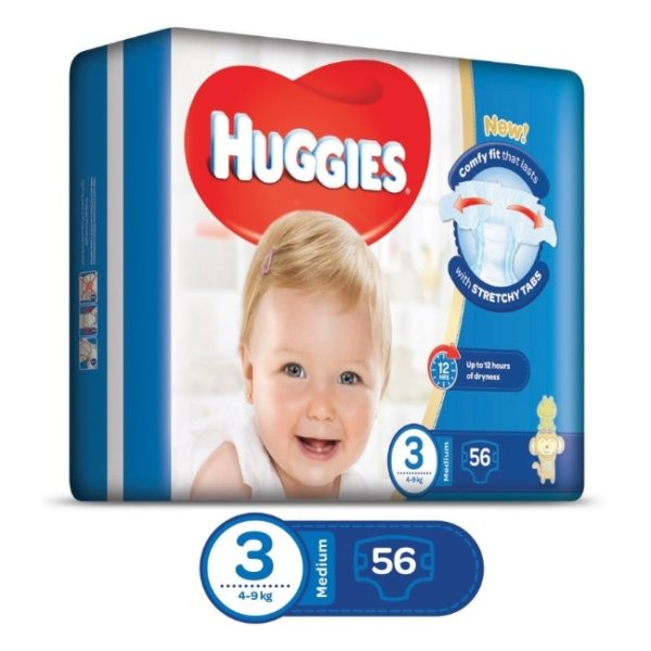 Huggies Eco Pack ( Size 3 ) 56 Diapers