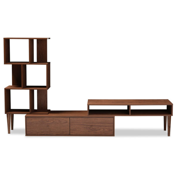 AtoZ Furniture Winchester Mid Century Modern TV Stand In Walnut Color