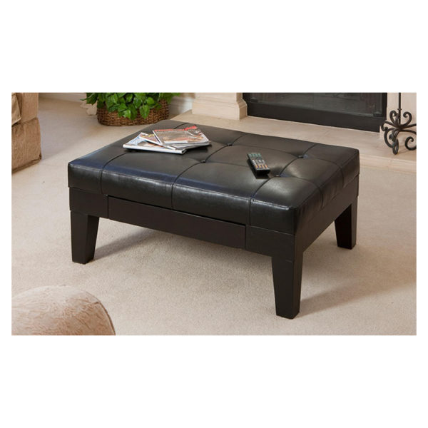 Buy Tucson Storage Ottoman Coffee Table Brown Price