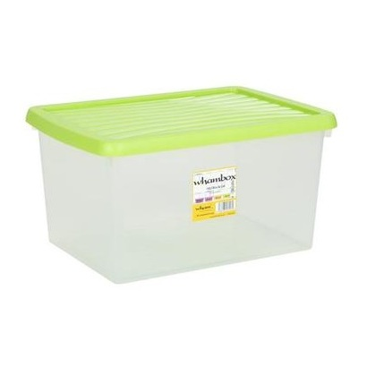 Wham Box & Lid Clear/Lime 16L