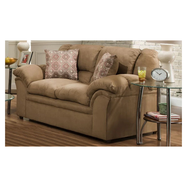 Elza Loveseat 3 Seater Sofa in Light Brown Color
