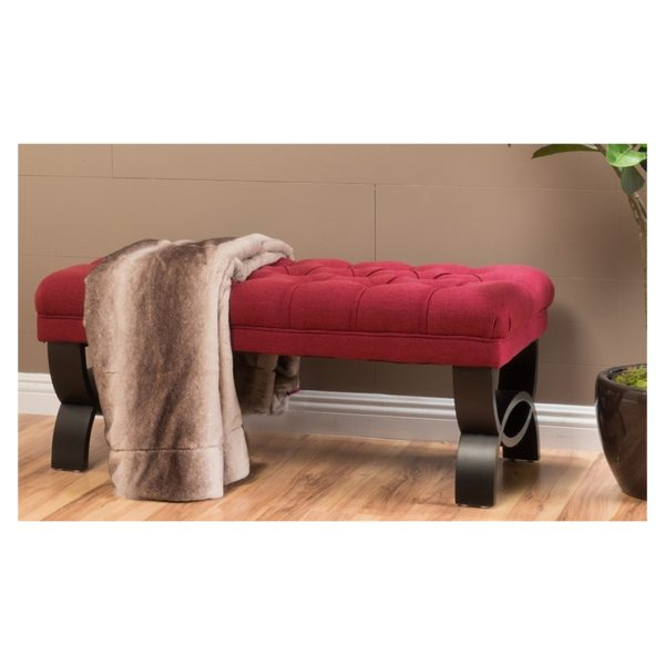 Colette Tufted Ottoman Red