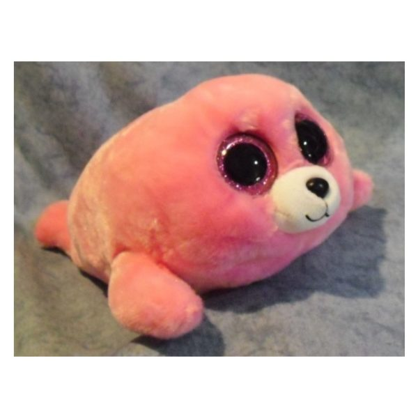 TY Beanie Boos Seal Pierre Pink 37085
