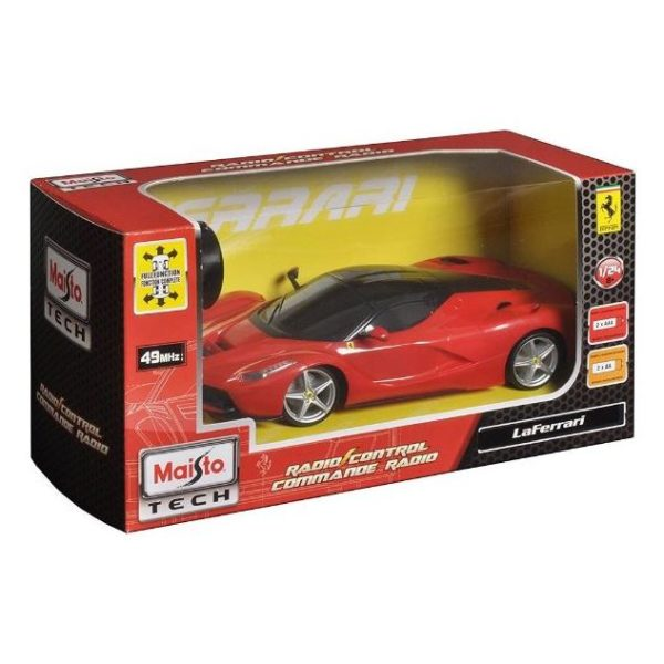 Maisto Tech 81086Red Ferrari Red RC 1:24 - Color May Vary