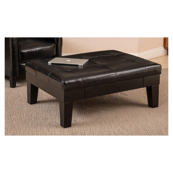 Buy Tucson Storage Ottoman Coffee Table Black Price