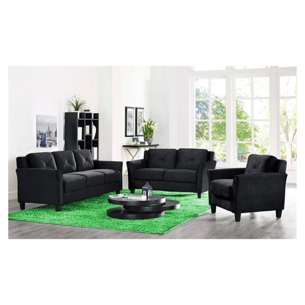 Ibiza Loveseat 5 - Seater ( 3+2 ) in Black Color