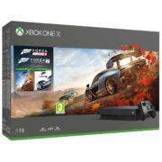 Microsoft Xbox One X Console 1TB Black With Wireless Controller + Forza Horizon 4 + Forza Motorsport 7 DLC Bundle
