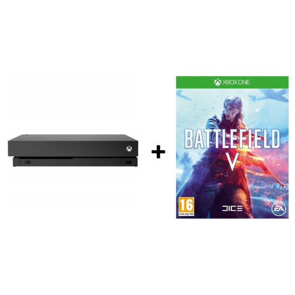 Microsoft Xbox One X Gaming Console 1TB Black + Battlefield 5 + 1Month Game Pass + 14Days Gold Live Membership DLC