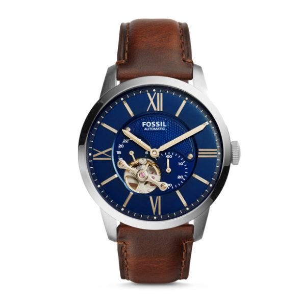 Fossil ME3110 Townsman Automatic Brown Leather Watch