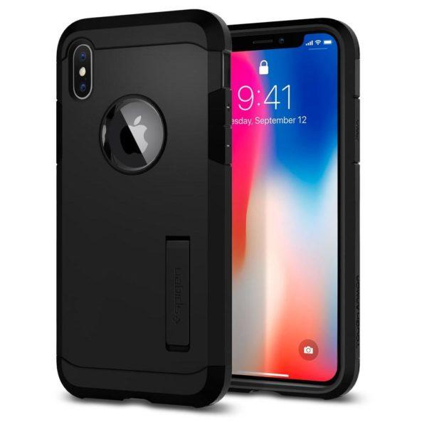 Spigen Tough Armor Black Case For iPhone Xs
