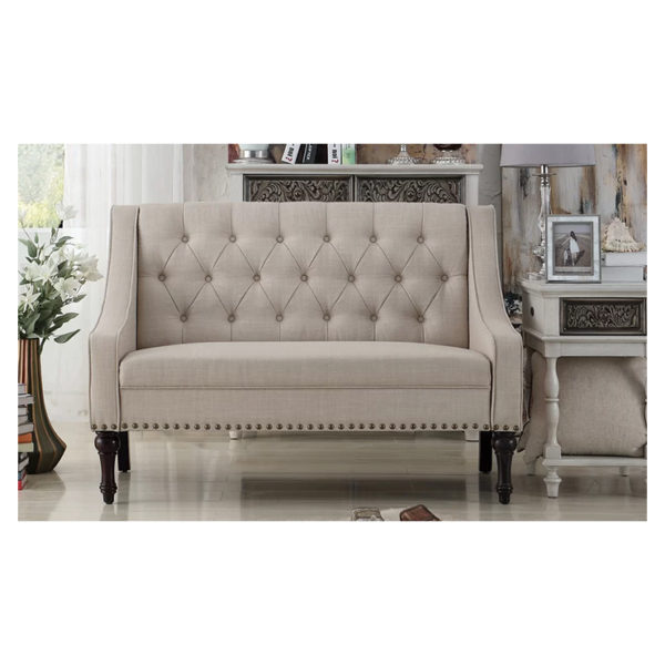Christiansburg Tufted Loveseat in Beige Color