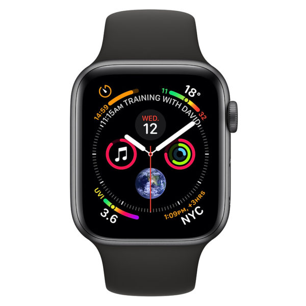 Apple Watch Series 4 GPS + Cellular 40mm Space Grey Aluminum Case With Black Sport Band