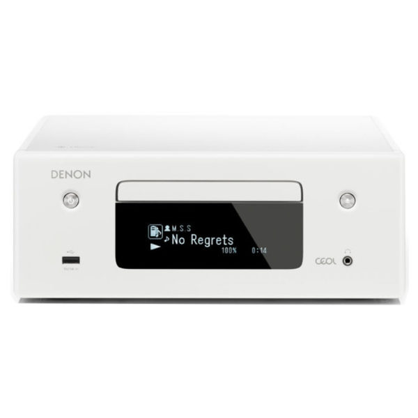 Denon RCD-N10 Hi Fi Music System with CD Player – White