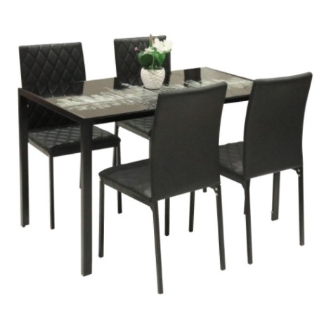 Home Style SH50170 Metropolis 4 Seater Dining Set with Chairs