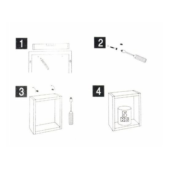 Home Style SH51264 Wall Cube 3 Pieces Set