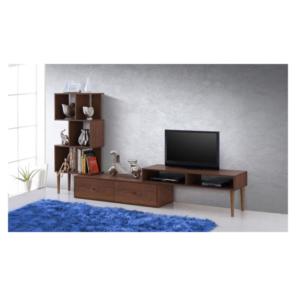 Winchester Mid-Century Modern TV Stand in Walnut Color
