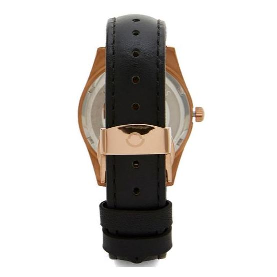 Omax PL11R22I Women's Multifunction Leather Watch