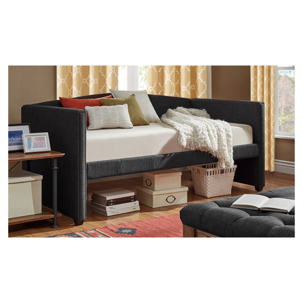 Shelter Arm Daybed and Trundle Day Bed only Dark Grey