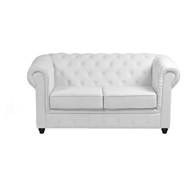 Ingles Sofa Sets Two Seater Sofa in White Color