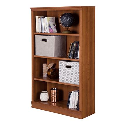 AtoZ Morgan 4-shelf Bookcase Brown