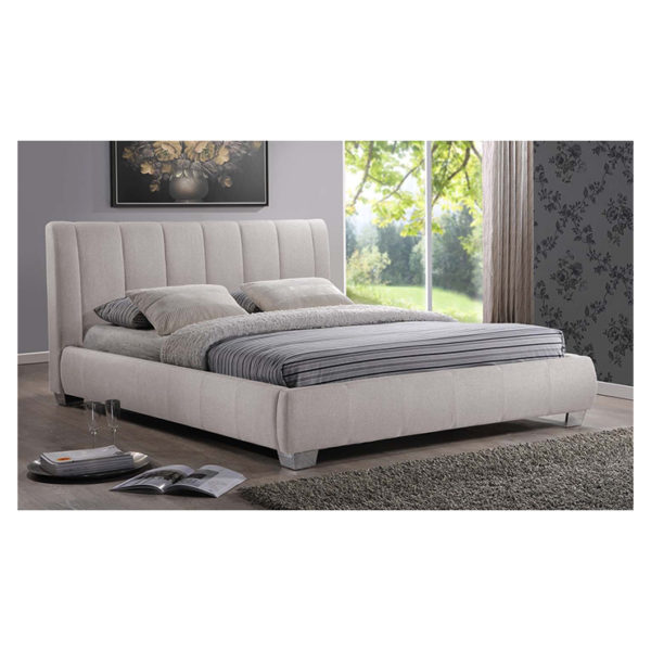 Olson Modern Platform Queen Bed without Mattress Light Beige