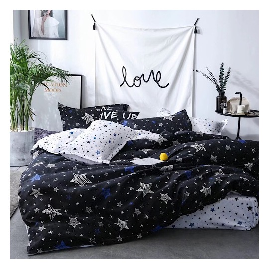 Deals For Less White Stars Single 4 pcs Comforter Set