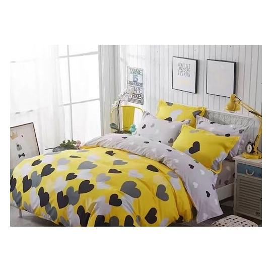 Deals For Less Black Heart Single 4 pcs Comforter Set