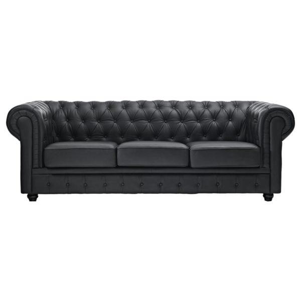Ingles Sofa Sets 10 - Seater ( 3+3+2+1+1 ) in Black Color