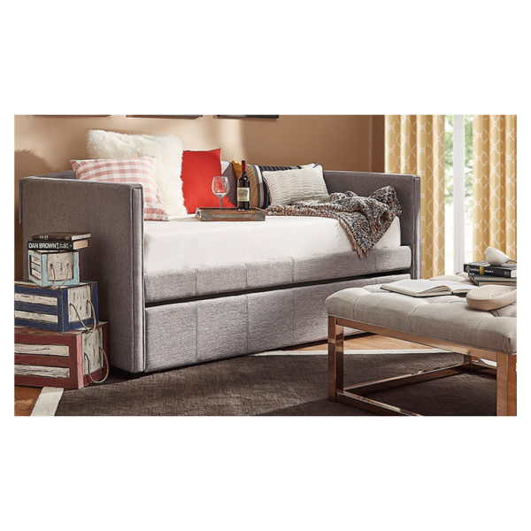 Shelter Arm Daybed and Trundle Day Bed only Grey