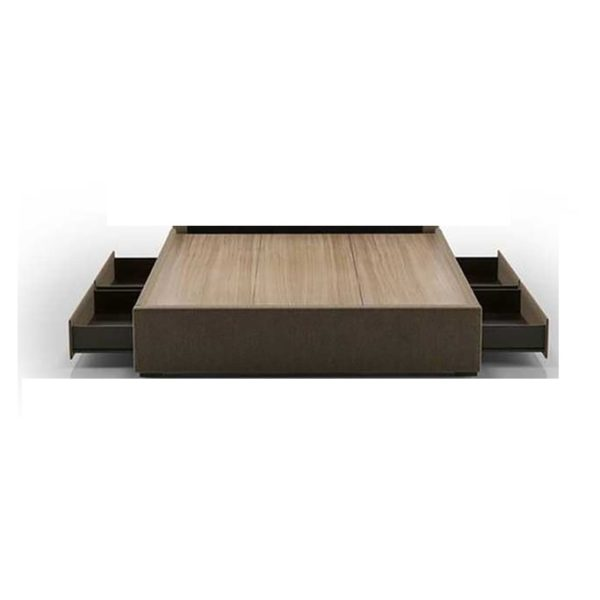 AtoZ Four-Drawer Storage Super King Bed with Mattress Coffee