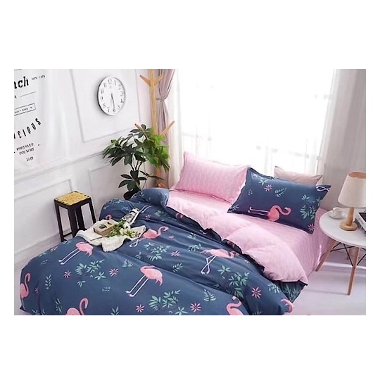 Deals For Less Pink Flamingo Single 4 pcs Comforter Set