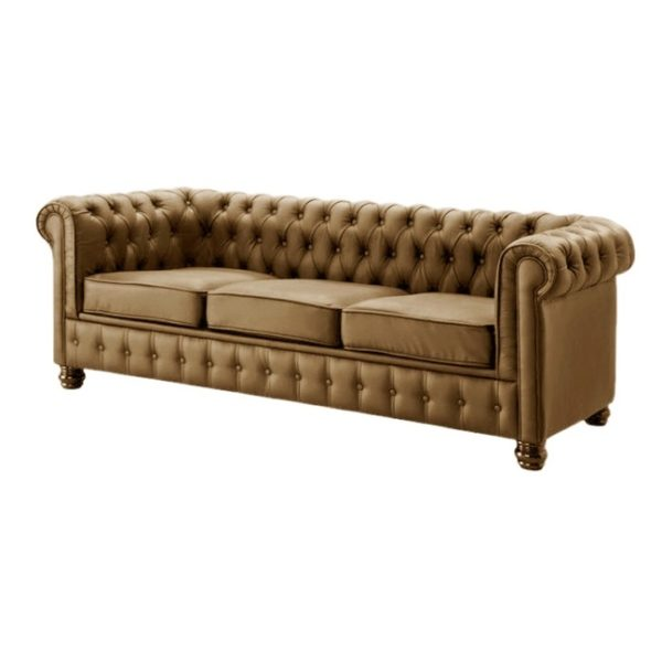 Ingles Sofa Sets Three Seater Sofa in Brown Color