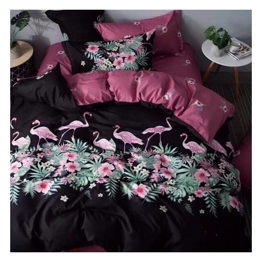 Deals For Less Flamingo Design King 6 pcs Comforter Set