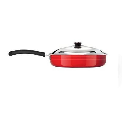 Anjali Fab Fry Cooking Pan 240mm Small Induction Base (With Lid)