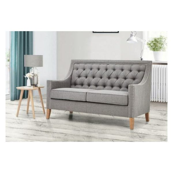 Montpellier Sofa Collection Two Seater Sofa in Light Grey Color