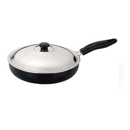 Anjali Diamond Fry Pan 240mm (With Lid) Small DFP24
