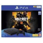 Sony PS4 Slim Gaming Console 500GB Black + Call Of Duty Black Ops 4 Game