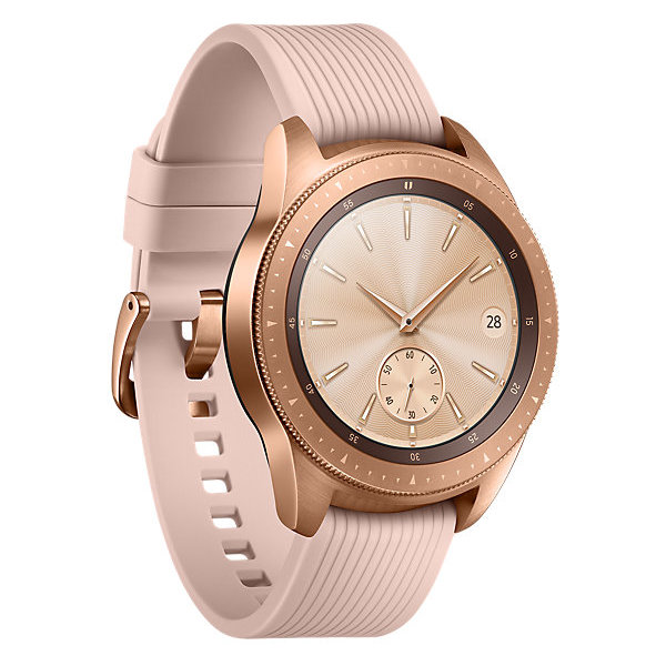 Samsung Galaxy Watch 42mm Rose Gold + Samsung Level U Pro Wireless Headphone