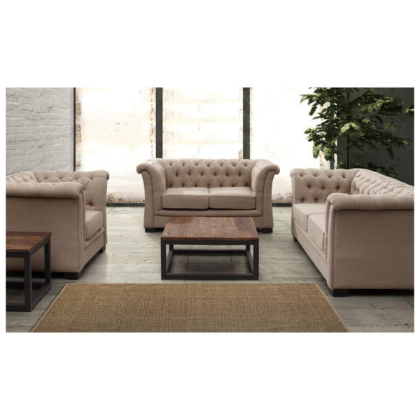 Chester Hill Sectional Sofa Three Seater in White Color